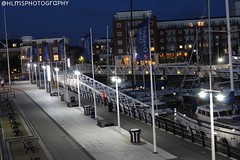 Bright Lights (HLM's Photography) Tags: boats gosport water sea beautiful pretty cool street landscape romance love time night south england britain photographer canon lights bright ammeter photography uk portsmouth quays gunwharf