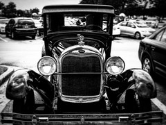 Vintage Ford. (pmpiasecki) Tags: blackandwhite cars ford monochrome car monotone oldcars ricohgr classiccars antiquecars