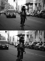 [La Mia Citt][Pedala] (Urca) Tags: portrait blackandwhite bw bike bicycle italia milano bn ciclista biancoenero bicicletta 2016 pedalare dittico ritrattostradale nikondigitalemir 85579