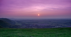 Sunset In Sussex (iankent1963) Tags: uk sunset england sky sun sussex coast nikon brighton colours hove south devils hills dyke tamron 18270 d5100
