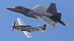 USAF Heritage Flight F-22 Raptor & P-51 (cjb_photography) Tags: west heritage wings aviation flight airshow raptor f22 usaf trenton p51 quinte 2016 cfb