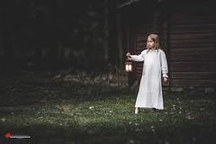 """girl in the dark"" (salas-3) Tags: nikon picture photography photo creative art woods dark dress girl story"