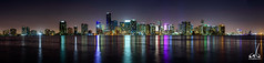 Miami Skyline Panorama (anoopbrar) Tags: miami florida usa america united states landscape unitedstates bluehour blue hour twilight ocean building skyline downtown sunset sunrise landscapephotography art artistic city cities nature outdoor night long exposure longexposure reflections foreground dusk citylights architecture buildings urban reflection water restaruant skylines buidlings