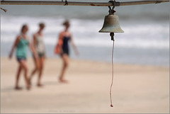 ring the bell, palolem (nevil zaveri (thank you for 10million+ views :)) Tags: ocean red sea people rescue woman india colour beach colors landscape photography photo blog women waves photographer place wind bell photos stock goa images photographs photograph leisure zaveri stockimages palolem nevil nevilzaveri