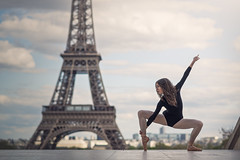 (dimitryroulland) Tags: street city light urban ballet paris france tower dance nikon ballerina natural 85mm eiffel dancer 18 d600 dimitry roulland
