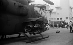 (line of fire) (Dinasty_Oomae) Tags: blackandwhite bw monochrome blackwhite cobra kodak outdoor kasumigaura retinette tsuchiura ibaraki   ah1s jgsdf          hericopter