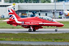 Royal Air Force - British Aerospace Hawk TMk 1 - XX278 – Aberdeen airport (paulstevenchalmers) Tags: aberdeen abz airport redarrows royalairforce british hawk