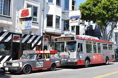 Bus 670 Meets Bus 67 (Telstar Logistics) Tags: muni bdr bus670