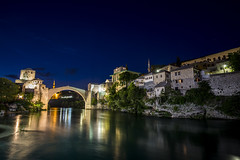 Mostar (ravnhenkel) Tags: blue night canon mostar bosnia hour 6d 2016