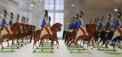Small models of mounted cavalry officers - Musee de l'Armee, Paris (Monceau) Tags: horses paris military parade mounted toysoldiers officers musedelarme tinsoldiers modelsoldiers