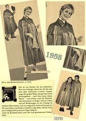 Kleppermode 1958 (hpdyko) Tags: fashion 1958 raincoat klepper regenmantel kleppermantel kleppermode
