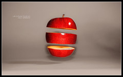 Apple Float (J Michael Hamon) Tags: camera red apple fruit lens nikon slice micro 40mm sliced nikkor float trickphotography hover specialeffect levitate hamon d3200 photoborder