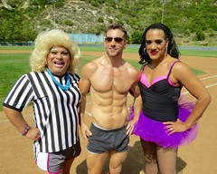 IMG_4528 (danimaniacs) Tags: shirtless man hot sexy guy pecs field baseball muscle muscular shorts softball dragqueen abs stud bulge friedalaye chicosangels chitaparol stevesiler