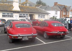 A nice pair #1 (occama) Tags: old uk 1969 car cornwall duo pair e type british jaguar 1970 coupe 44 1964 5laa uge577h