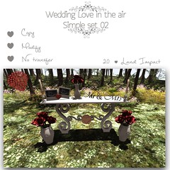 {YD} Wedding Love in the air { Simple Set 02} (yourdreams) Tags: life new wedding mesh second fest decor exclusive yourdreams 100mesh