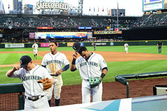 Tip Of The Cap (Trevor Ducken) Tags: seattle sports june nikon baseball mariners safecofield seattlemariners mlb 2016 primelens nelsoncruz nikond600