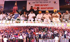 Shaheedi Samagam organized at stadium of Mata Gujri College - Sukhbir Singh Badal (2) (sukhbirsingh_badal) Tags: punjab development bababandasinghbahadur akalidal