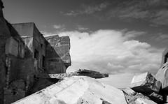 ERODED CONCRETE DEFENCES, KILNSEA BEACH, HOLDERNESS_DSC_9586_LR_2.0-2 (Roger Perriss) Tags: sea brick clouds buildings landscape concrete debris lookout erosion ww2 d750 walls spurn gunposition battary