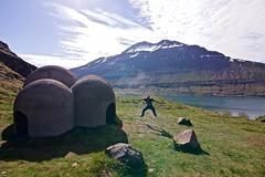 Mid-air (amee@work) Tags: sculpture mountain june iceland roadtrip east tokina sound 1224mm seydisfjordur 2016 canon40d domeshaped tvsngu