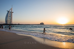Sunset @Jumeira Beach (Alan Dreamworks) Tags: leica travel sunset red dubai uae burjalarab summilux 21mm jumeriah