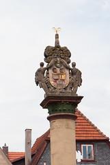 Decorative pillar (quinet) Tags: germany 2012 kulmbach castleroad burgenstrase