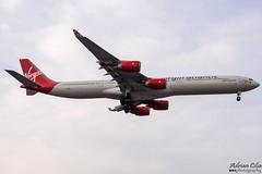 Virgin Atlantic Airways --- Airbus A340-600 --- G-VBUG (Drinu C) Tags: adrianciliaphotography sony dsc hx100v lhr egll plane aircraft aviation virginatlantic virgin virginatlanticairways a340 airbus a340600 gvbug