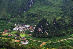 Limestone hills & village 漓江 相公山 (MelindaChan ^..^) Tags: china cloud house mist tree nature weather rock fog rural river village cloudy guilin hill hills mel limestone layers melinda 漓江 shape karst lijiang guangxi 桂林 topography landform 廣西 石灰岩 countrysdie 喀斯特地形 chanmelmel melindachan 相公山