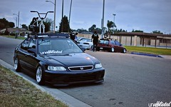 Joe's Civic (Unaffiliated Fam) Tags: door roof black eye bike sedan honda four for bmx being low 4 actually daily used more rack civic ek flush whores lids eyelids slammed stance dumped fitted unaffiliated fitment hyper16valve stanced