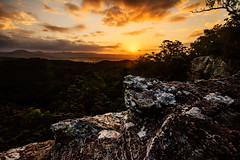 Paradise Point (Matthew Post) Tags: sunset forest landscape rocks post matthew forestry glastonbury australia cliffs queensland gympie stateforest brooyar matthewpost