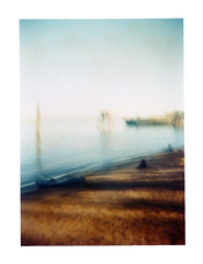 Kelly Point Mysteries (Dead  Air) Tags: park sky sunlight beach holga haze faded overexposed fading hazy willametteriver buoy disappearing kellypointpark kellypoint