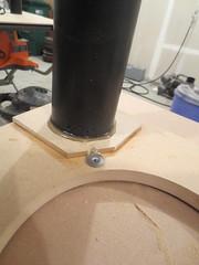Port glued in subwoofer baffle (burritobrian) Tags: diy speaker boombox overnightsensations speakerbuild sd215a88
