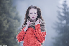 lonely woman (Amickman) Tags: blue autumn winter portrait people woman cold girl beautiful beauty look fashion female person sweater perfect soft pretty solitude alone loneliness adult emotion wind serious outdoor expression air young makeup sensual clean delicious faded blonde attractive getty lonely solitary tender freshness gettyimages passionate expectation