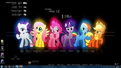 Desktop 05-2013 (Joe Hall1) Tags: desktop pony mlp mylittlepony rarity applejack rainmeter fluttershy pinkiepie rainbowdash friendshipismagic twilightsparkle