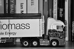 Just messing.... (stavioni) Tags: truck model jane bookshelf atlas eddie amelia trailer scania editions biomass 176 stobart r440