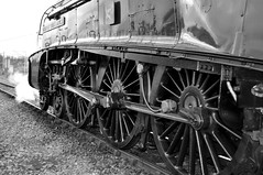 Black and white photo of 60 009 Union of South Africa's wheels. (Raymondo166) Tags: africa white mountain black photo south union wheels express carlisle 60 009 cme cumbrian upperby