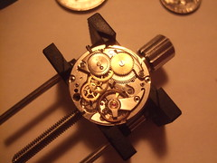 DSCF4303 (bigjohnf1) Tags: macro stem mechanical small watch hobby automatic crown wrist gears making jewel 1965 bulova