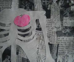 Show Your Bones (cryssychu) Tags: music collage book heart tea drawing ribs bones showyourbones