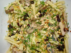 Pasta with Sardines 5 (Couscous & Consciousness) Tags: fish recipe lemon raisins pasta fennel sardines preservedlemons