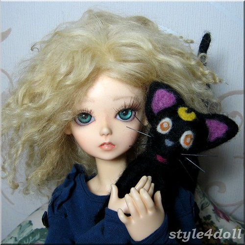 Luna Sailor Moon (needle felted by style4doll) and May Blue Fairy