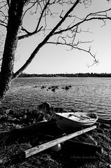 Rowboat (Devanon) Tags: bw finland river rowboat oulu