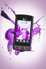 LG Mobile Phone (weareccad) Tags: mobile phone purple telephone lg mobilephone splash product liquid productphotography liquidphotography