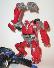 cliffjumper with battle axe and vehicon transformers prime r.i.d b (tjparkside) Tags: prime fight with battle robots transformers disguise axe rid autobot hasbro decepticon defeats cliffjumper vehicon