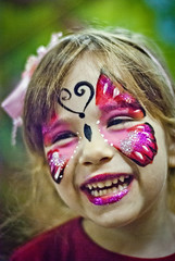 Mariposa (::: M @ X :::) Tags: party smile make up butterfly happy paint chica child joy daughter happiness sonrisa nena bliss mariposa pintura cata hija maquillaje