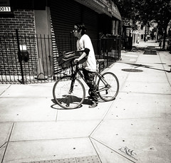 I am Lost.... (RYA Photography) Tags: pizza delivery brooklynnewyork bwstreetphotography ryaphotography