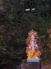 Saraswati - D7K 4655 ep (Eric.Parker) Tags: india shrine clay idol roadside kolkata bengal calcutta saraswati 2012 westbengal 2011