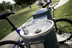 Reward (natestation2) Tags: lake water fountain bike creek canon nebraska bokeh walnut trail f2 flowing 22mm efm eosm