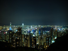 Still no way from what I've got to do (fedeskier) Tags: china city skyscraper train lights hill peak hong kong luce collina
