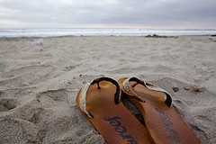 (Melissa Emmons Photography) Tags: ocean california sunset sky beach nature floral hat clouds canon landscape sand shoes oceanside 5d summertime reef greatnature