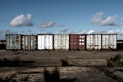 (Delay Tactics) Tags: sky urban graveyard clouds 7 explore seven exploration runway scrub digger containers ue urbex