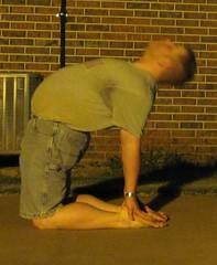 Summer yoga '13: Ustrasana (CS87) Tags: male yoga pose back bend stretch camel posture stretching asana flexibility flexable backbend flexible limber flexability flexibilidad ustrasana maleyoga maleflexibility